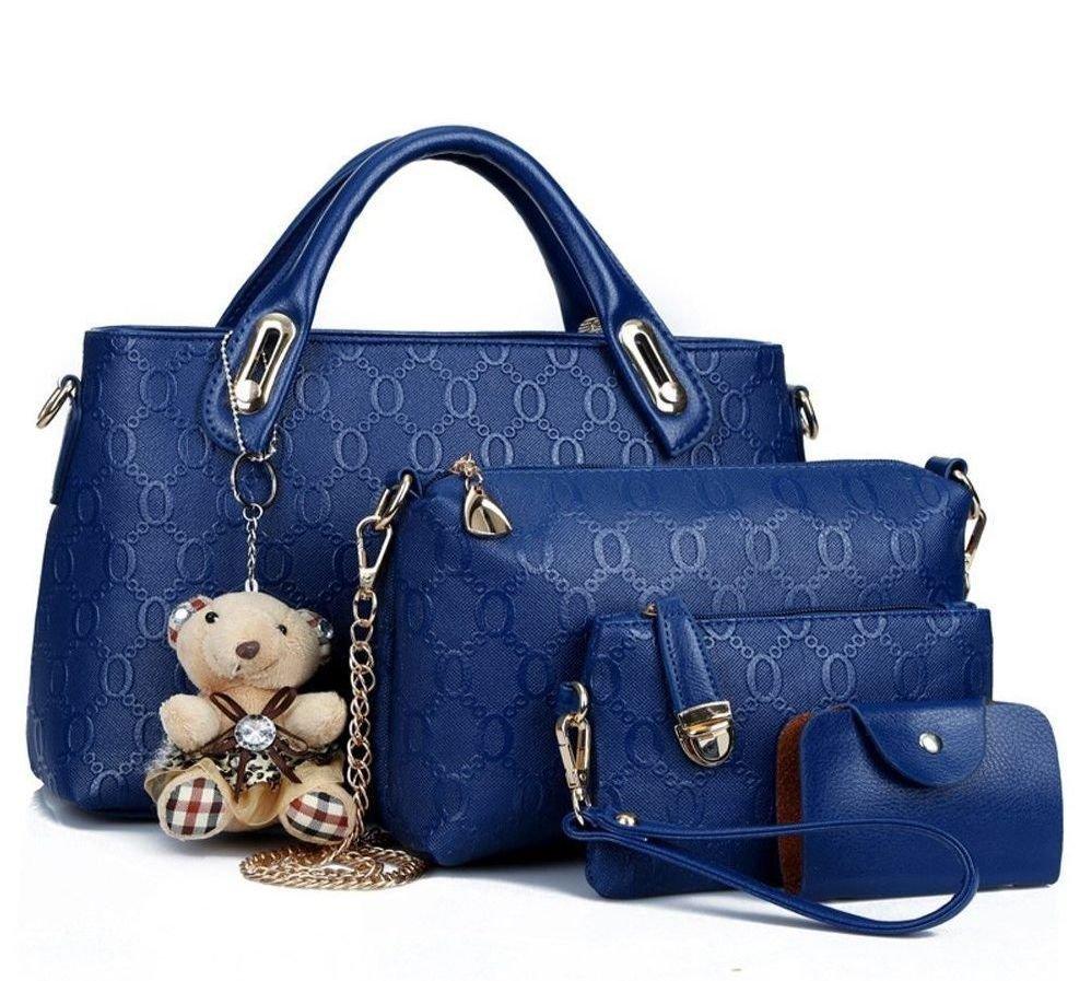 Bolso azul de similpiel
