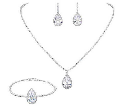 Conjunto de joyas lagrimas