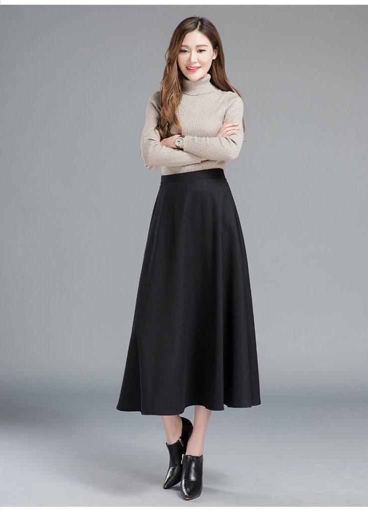 Falda larga clásica