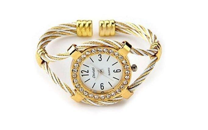 Reloj brazalete dorado