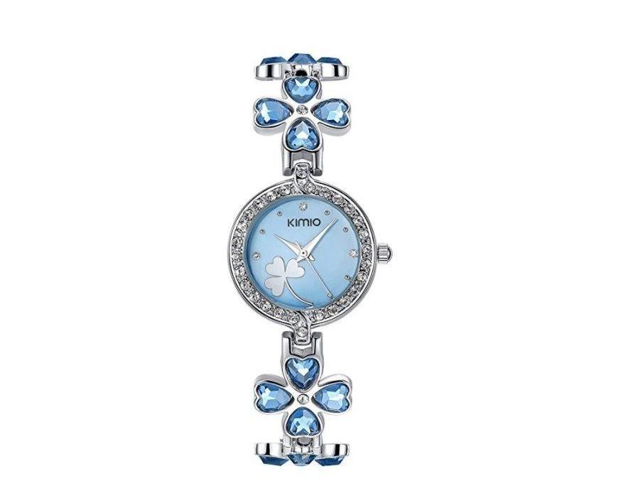 Reloj de fiesta azul