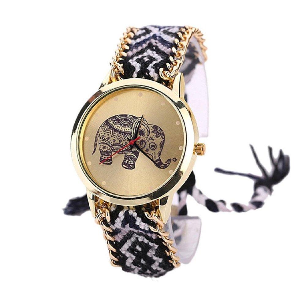 Reloj moderno negro para mujer