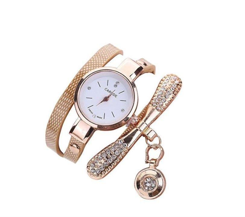 Reloj pulsera dorada