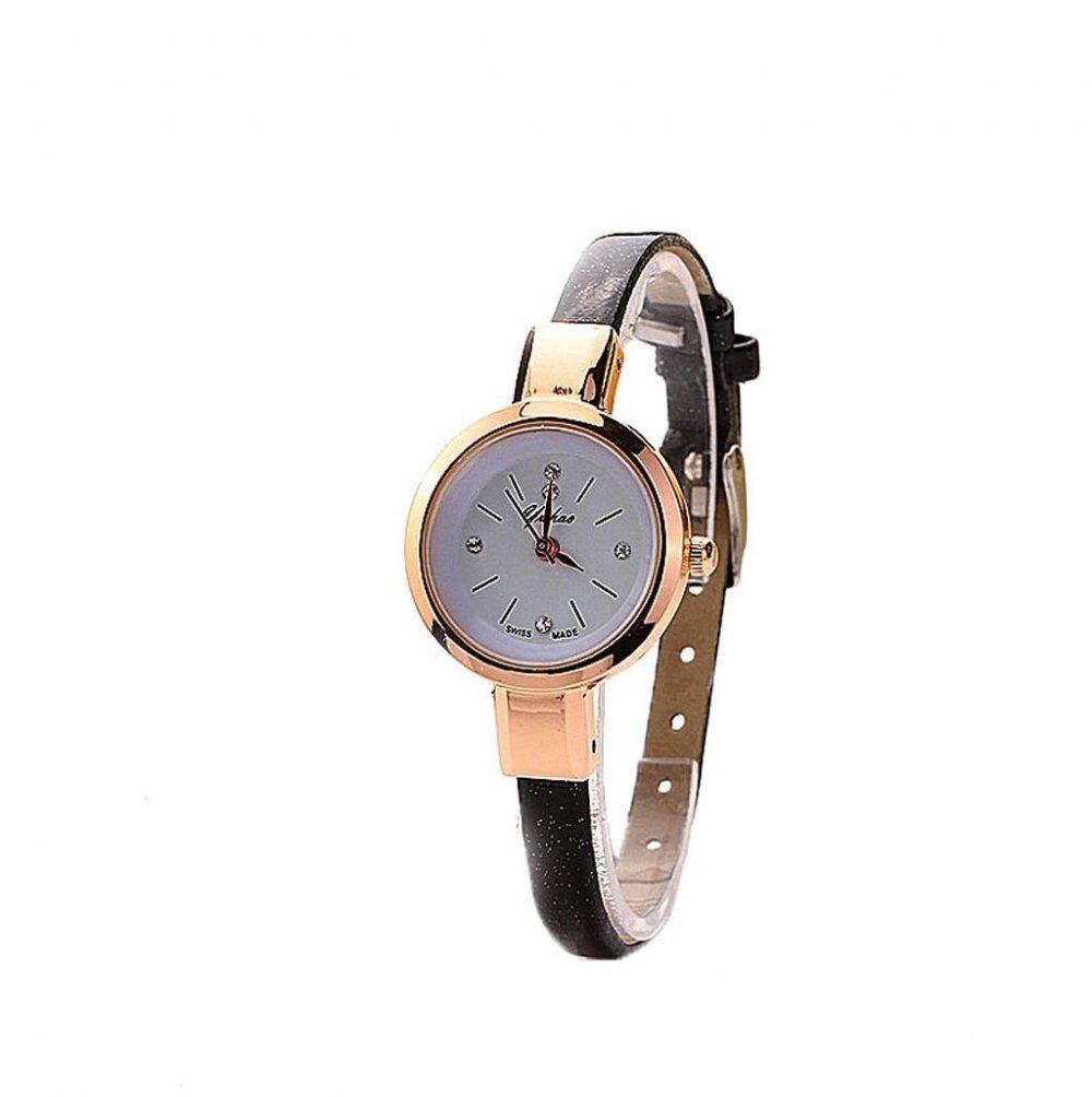 Reloj pulsera negra de mujer