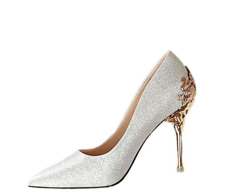 Zapatos de tacón de fiesta elegantes